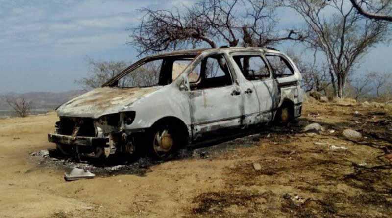 Localizan camioneta quemada y con impactos de bala en brecha de SJC