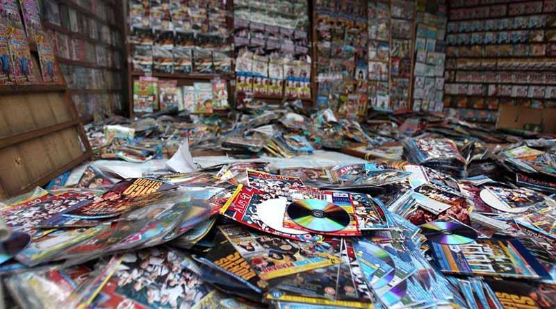 Asegura PGR en puesto callejero de El Zacatal 26 mil discos piratas