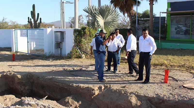 Realizan obra para mejorar tandeo de agua en CSL