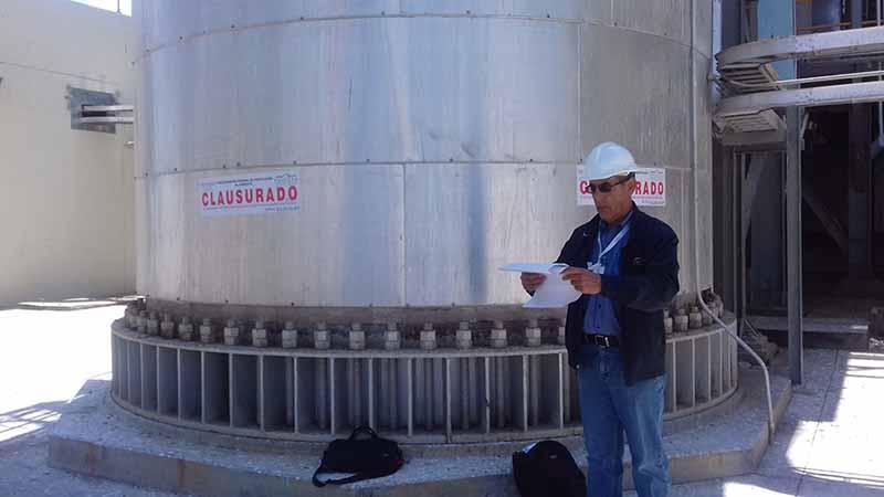 Clausura Profepa unidad de combustión interna de la Central CFE en La Paz
