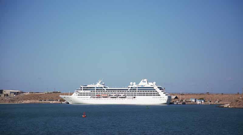 Recibe puerto de Pichilingue crucero Pacific Princess
