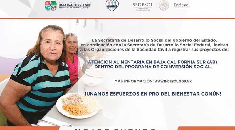 Invitan SEDESO y Sedesol a asociaciones civiles para abatir la carencia alimentaria