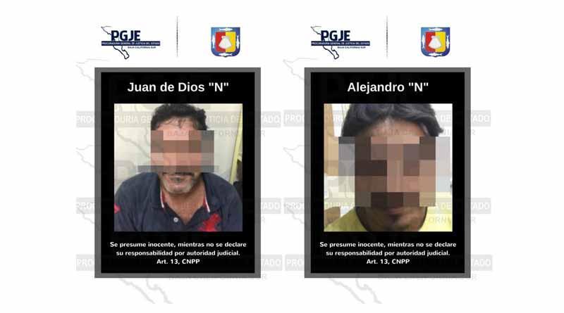 Asegura PGJE a dos personas con 113 dosis de cristal en La Paz