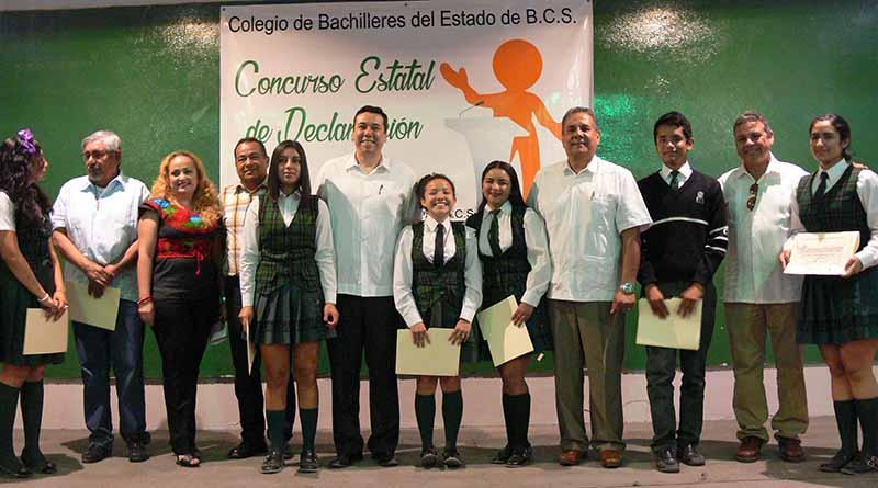 Celebran IV concurso Estatal de Declamación Cobach 2017