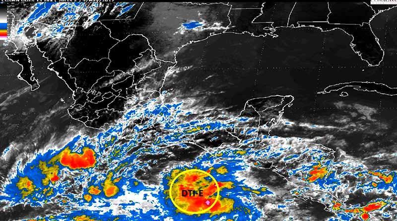 Reporta SMN depresión tropical con potencialidad ciclónico del 90% en El Pacífico