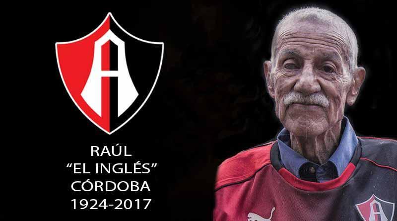 Murió exportero Raúl Córdoba, campeón con Atlas en 1951