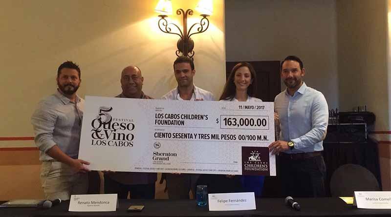 Sheraton Grand Los Cabos Hacienda del Mar entrega donativo de 163 mil pesos a LCCF