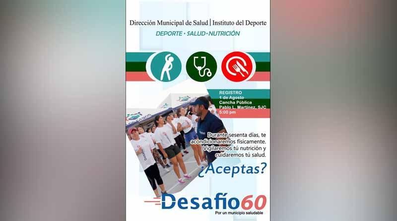 """Arrancará 2ª. edición del Programa Municipal """"Desafío 60, rompiendo costumbres"""""""