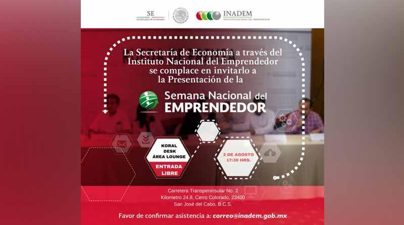 Baja California Sur presente en la semana nacional del emprendedor: Emilio Lucero