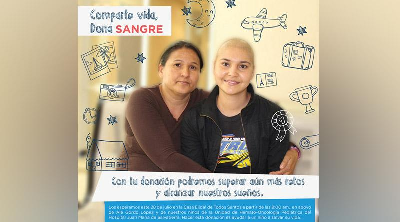 Realizará SSA de BCS campaña de donacion de sangre y plaquetas para niños con Cáncer