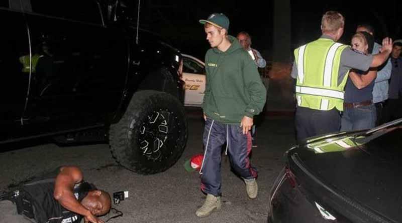 Justin Bieber atropella a paparazzo en Beverly Hills
