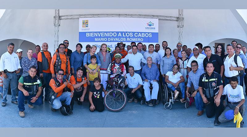 Culmina en Cabo San Lucas La XIII Travesía del atleta Paralímpico Mario Dávalos Romero