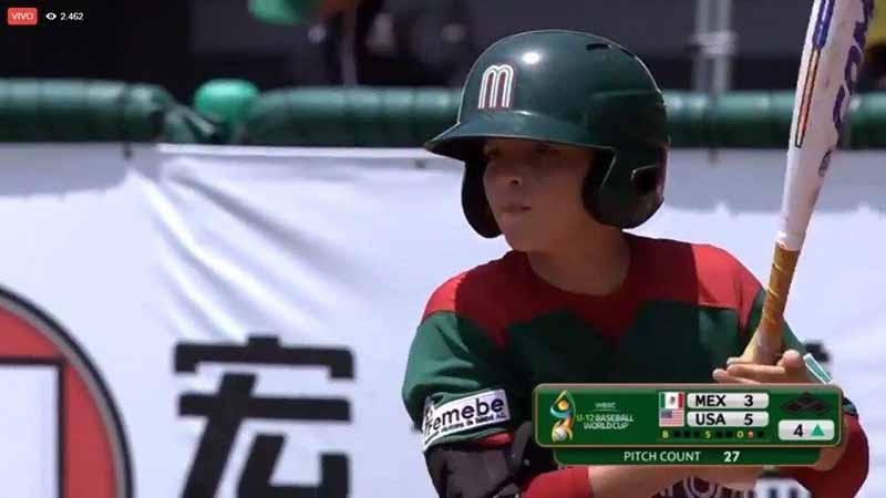 Ichiro Cano logra medalla de bronce en Mundial de Beisbol