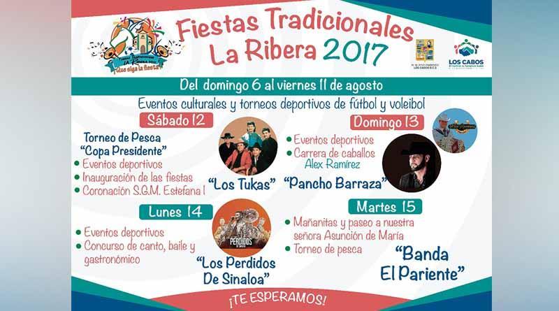 Invitan a la comunidad a disfrutar de las fiestas tradiconales de La Ribera 2017
