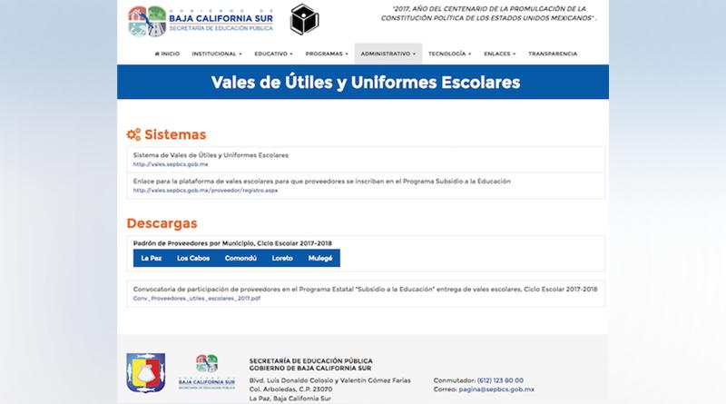 Participan 134 proveedores y 173 establecimientos en programa de vales de útiles y uniformes: SEP