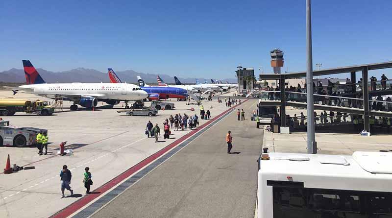 Se incrementa la llegada de turistas vía aérea en Los Cabos
