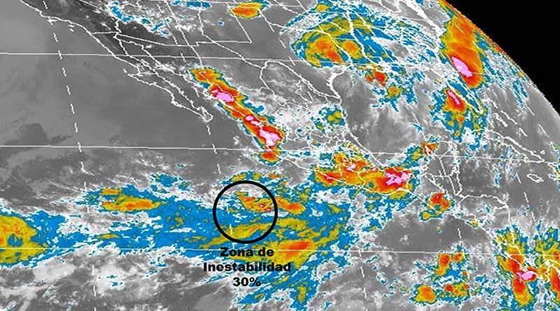 Zona de inestabilidad se ubica al suroeste de Colima y Michoacán