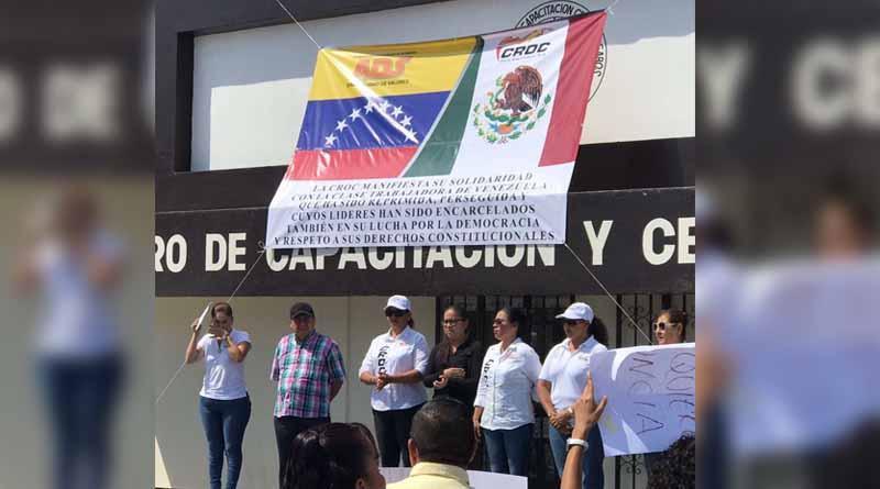 Se suma CROC BCS a manifestaciones organizadas en todo el país en respaldo a trabajadores venezolanos
