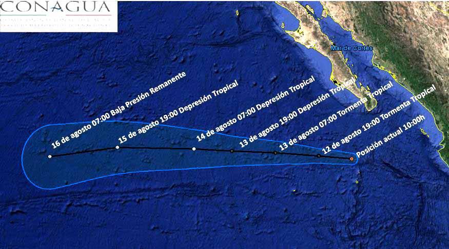 Alertan por tormenta tropical Jova al sur de la Península de Baja California
