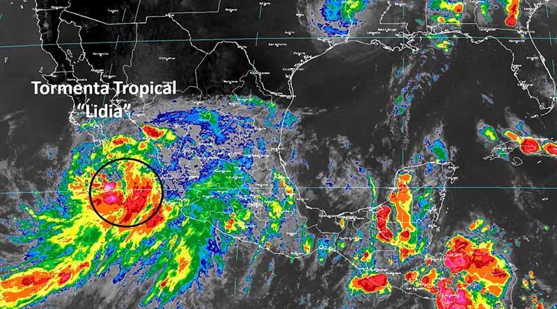 """Depresión tropical alcanza categoría de tormenta tropical """"Lidia"""", Los Cabos en alerta amarilla"""
