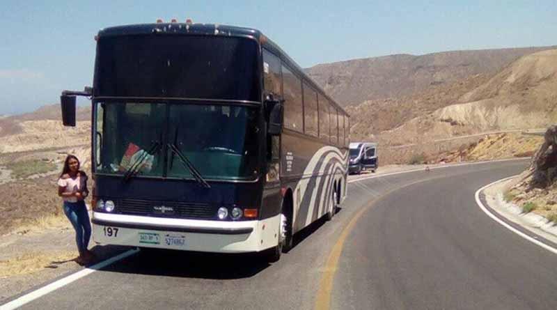 Quedan varados 60 turistas en la Cuesta del Infierno en Mulegé