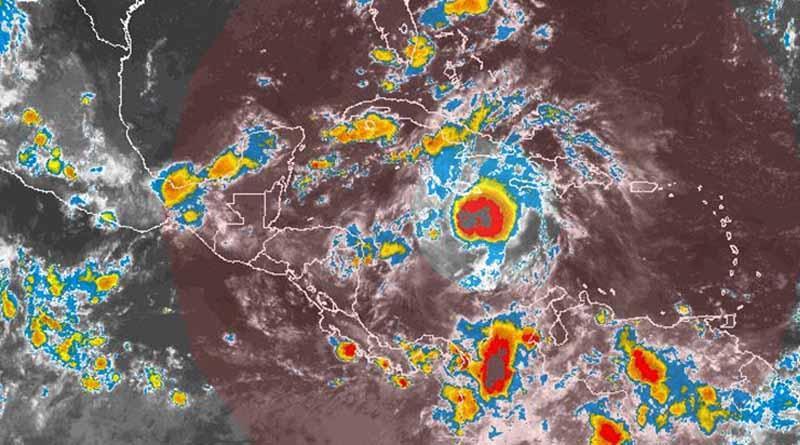 Zona de inestabilidad se localiza sobre el centro del Mar Caribe