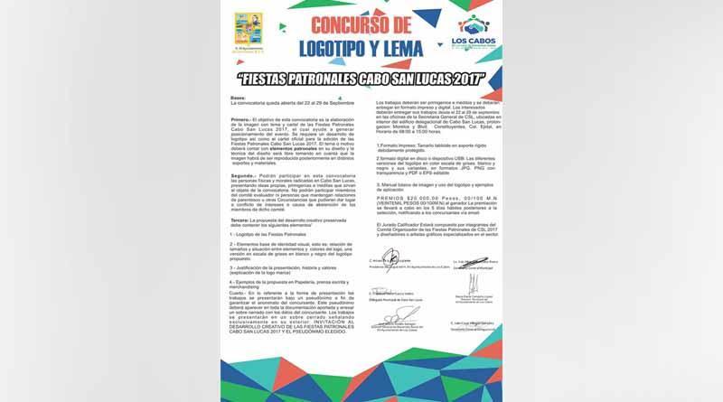 Se invita a participar en el concurso de logotipo y lema de las fiestas patronales CSL 2017