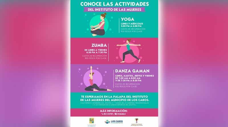 Instituto de las mujeres brinda servicio y actividades recreativas para las mujeres cabeñas