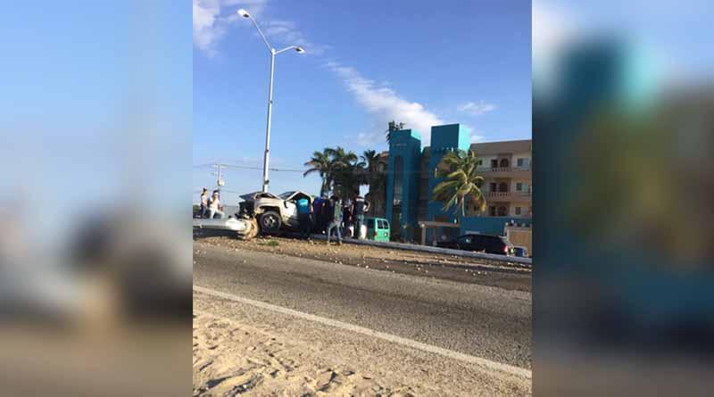 Fuerte accidente automovilístico en corredor turístico CSL-SJC
