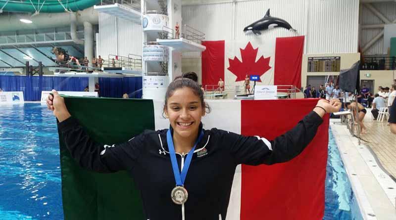Clavadista sudcaliforniana Aranza Vázquez consigue plata en trampolín en Canadá