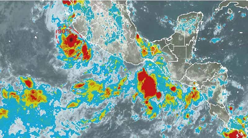 Depresión Tropical en el Pacífico con 90% para desarrollo ciclónico a 5 días