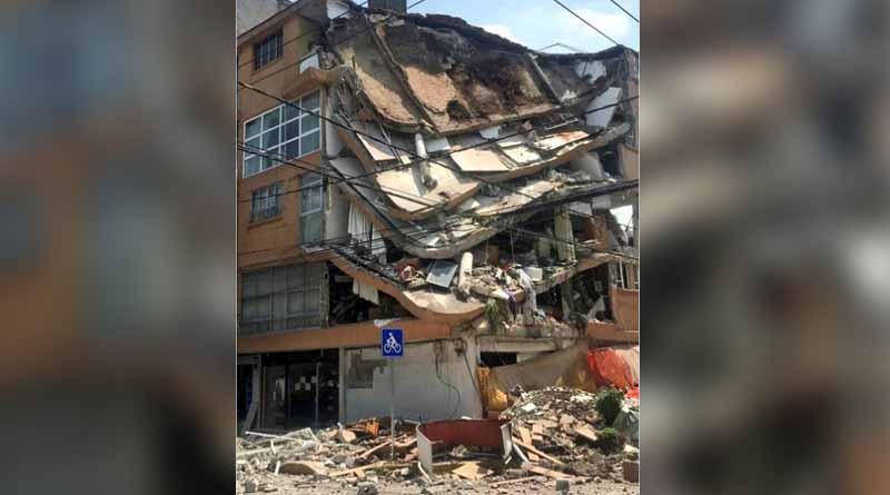 Reportan daños en varios edificios de la CDMX tras temblor de 7.1 grados