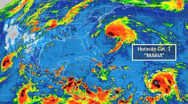 Huracán María se fortalece y emiten alerta para Puerto Rico