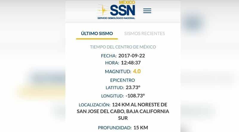 Registran segundo temblor en menos de 13 horas cerca de SJC