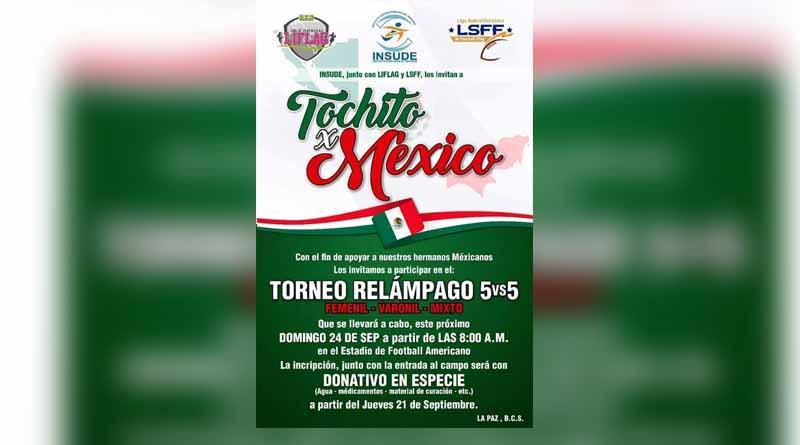 """""""Tocho x México"""" en beneficio de afectados del sismo"""