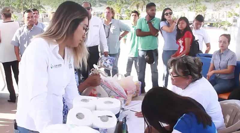 Se trasladan víveres a La Paz para los hermanos de CDMX, Puebla, Morelos y Oaxaca