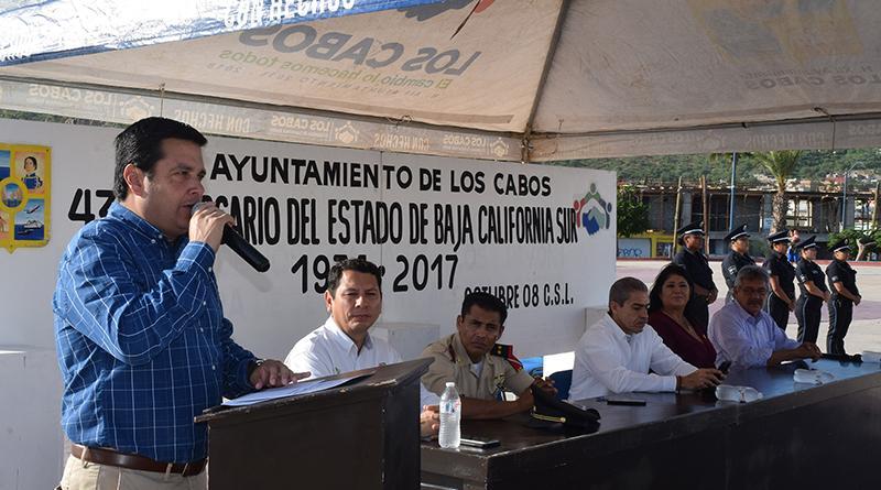 Gobierno de Los Cabos conmemora el XLIII Aniversario de la conversión de territorio a estado libre y soberano de BCS