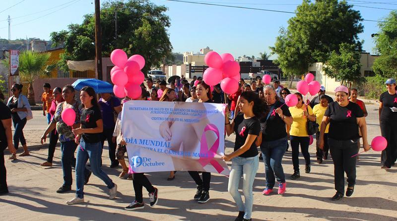 SSA de BCS acerca la prevención del cáncer de mama a colonias populares
