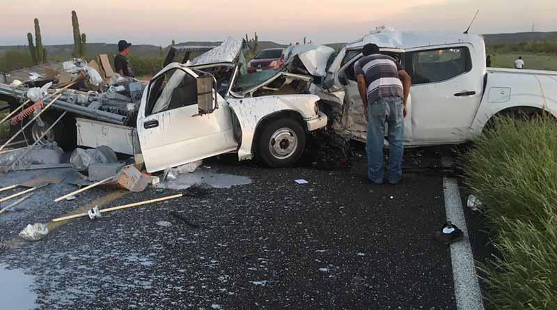 Un muerto y dos heridos por aparatoso choque frontal en carretera a Constitución