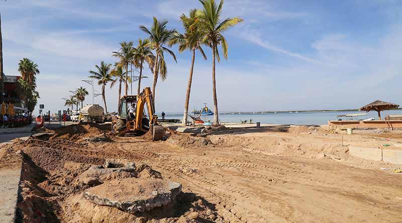 Moderniza SEPUIT infraestructura vial  en el malecón de La Paz