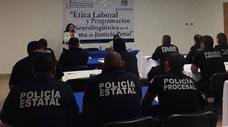 Mediante capacitación se fortalece el Sistema de Justicia Penal en BCS