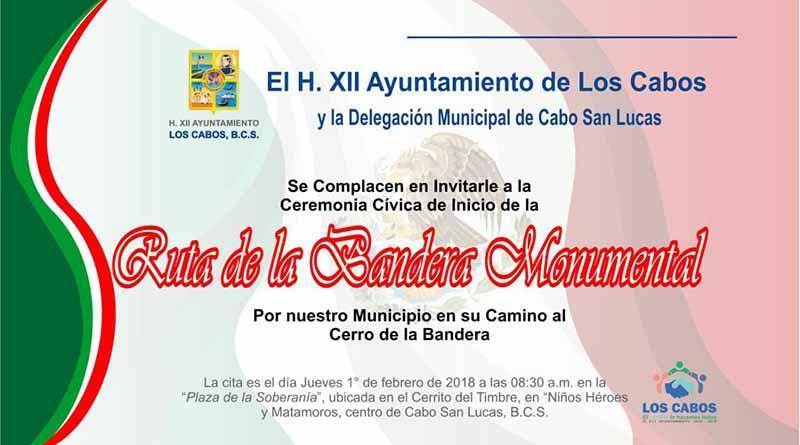 Iniciará recorrido Bandera Nacional Monumental en Los Cabos
