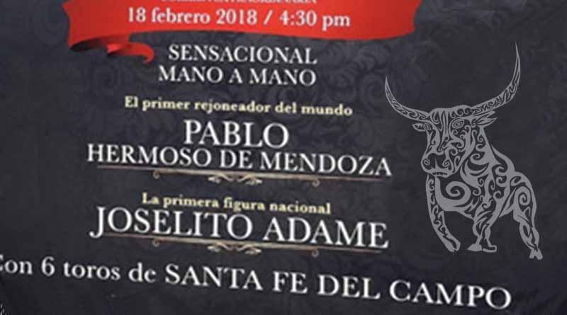 Presentan Corrida Extraordinaria con Hermoso de Mendoza y Joselito Adame