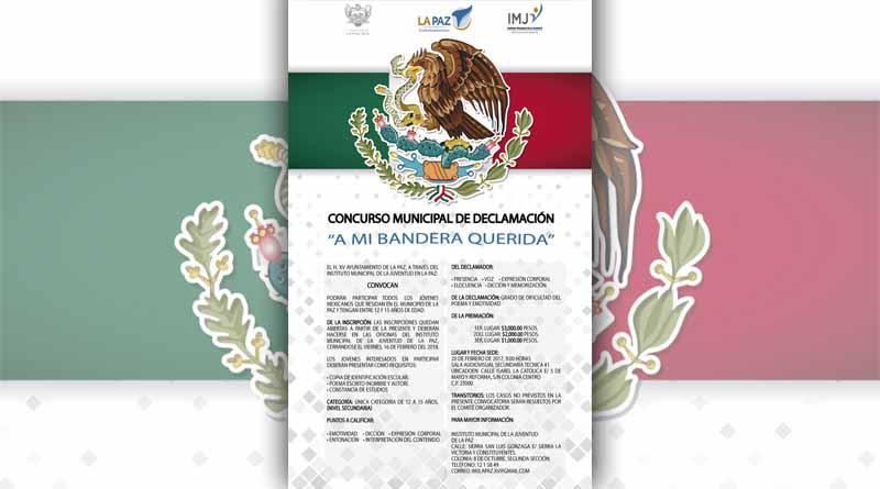 """Concurso Municipal de declamación """"A Mi Bandera Querida"""""""
