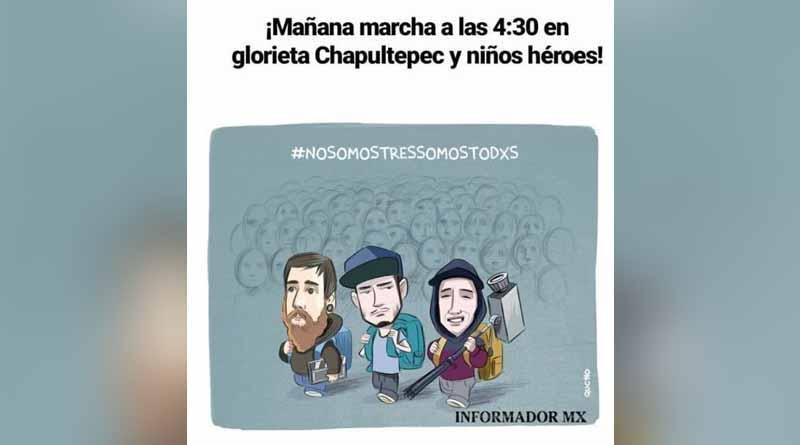Convocan a marcha nacional por estudiantes desaparecidos en Guadalajara