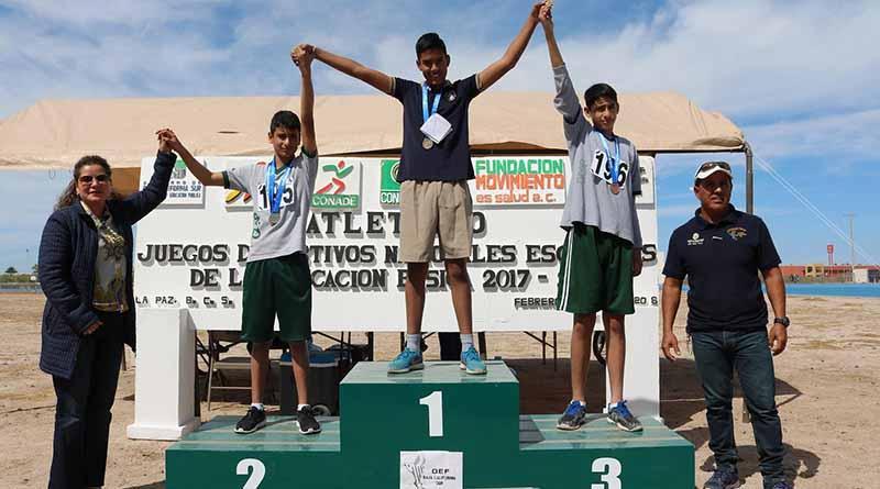 Registran Juegos Escolares en La Paz participación récord de mil atletas: SEP