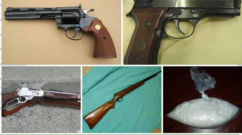 Aseguró Policía Ministerial a 4 personas, armas de fuego y drogas en Santa Rosalía