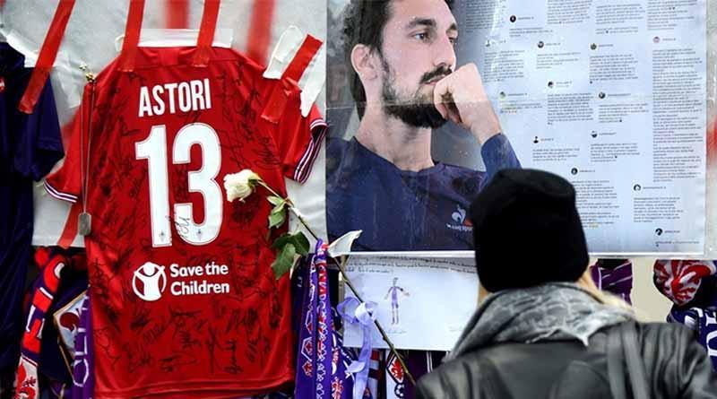 Miles de personas presentes en funerales del futbolista italiano Davide Astori