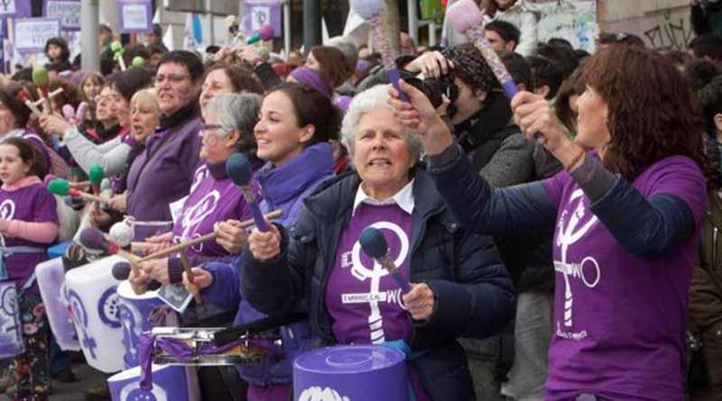 Paros laborales y movilizaciones en Día de la Mujer en España