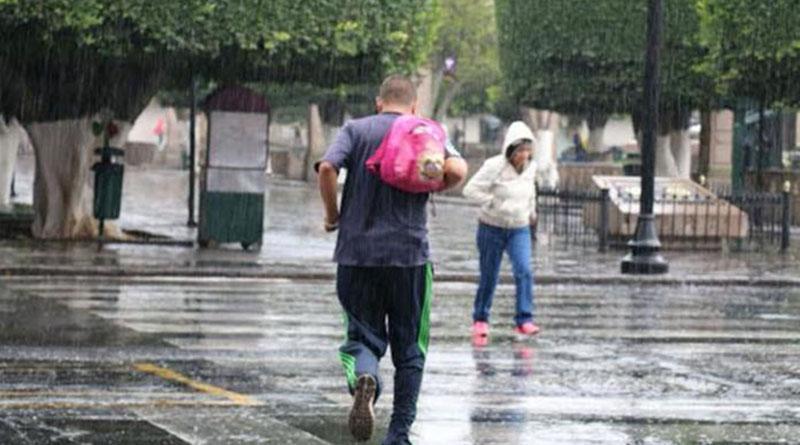 Frente frío causará lluvias y bajas temperaturas en gran parte del país